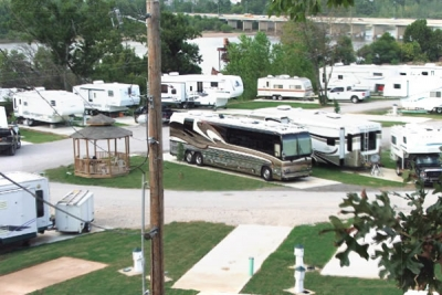 Riverview RV Park, Sand Springs, Oklahoma - Overlooking the River