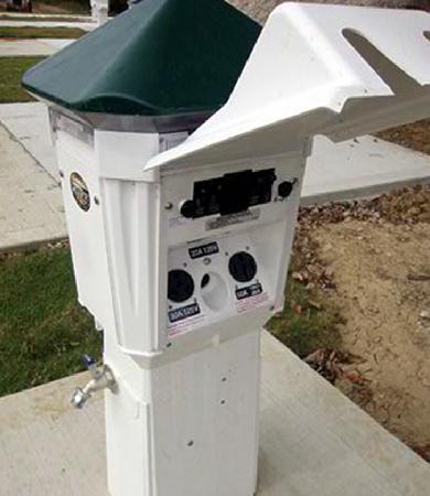 Riverview RV Park - 30/50 AMP Pedestals