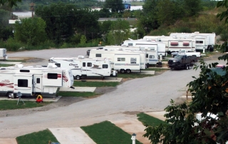 Riverview RV Park, Sand Springs, Oklahoma - View from the Bluffs