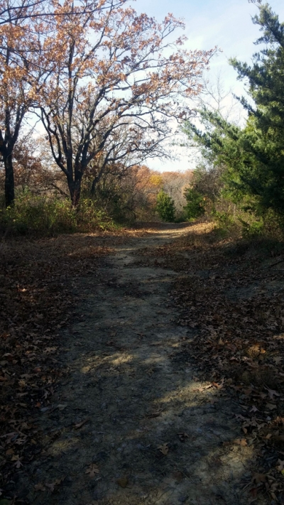 Riverview RV Park, Sand Springs, Oklahoma - Walking paths around the park